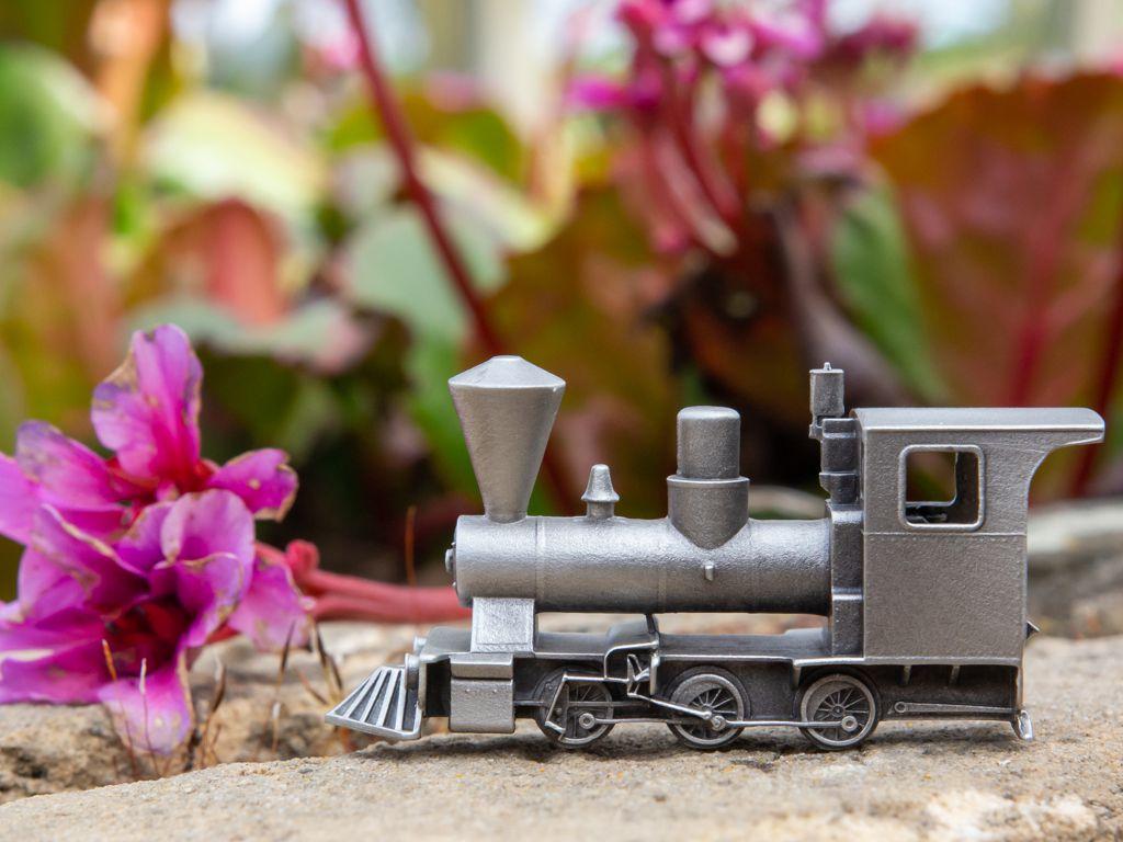 Rollecate, Gam'inBIZ, Tinnen Treintje, Miniatuur, Locomotief, Miniature, Train, Pewter Train