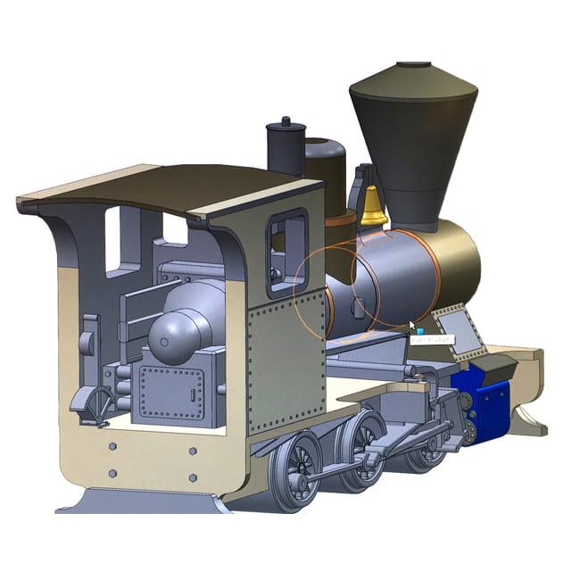 3D design, 3D ontwerp, ontwerp, miniatuur, trein, locomotief, rollecate, train