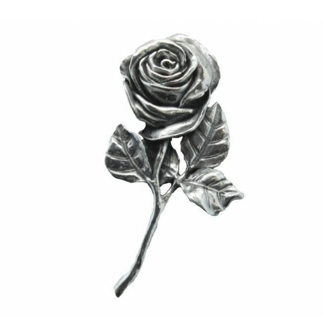 Pin, Roos, Roosje, Tinnen Roos, Pewter Pin, Pewter Pin Rose, Rose
