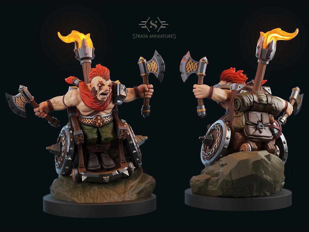 strata miniatures,, dungeons and diversity, miniatures, table top game, 3d design, color design